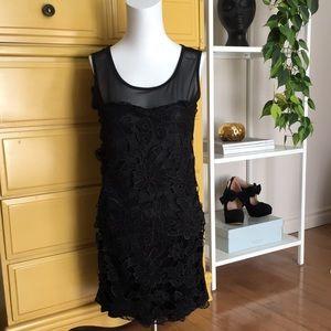 2/15$ QED London black mini dress